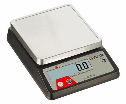 Báscula Porcionadora con Botón de Tara para Ingredientes - Taylor Precision