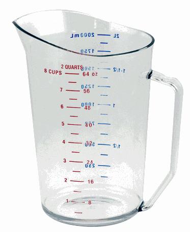 Jarra medidora transparente de 1 lt en policarbonato - Cambro
