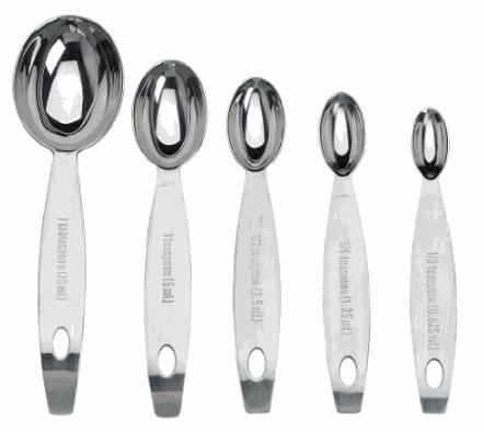 Juego cucharas medidoras en acero inoxidable - Cuisipro